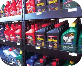 Auto Parts Store Oil Display